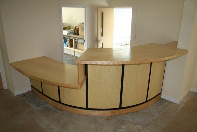 hand made, reception desk