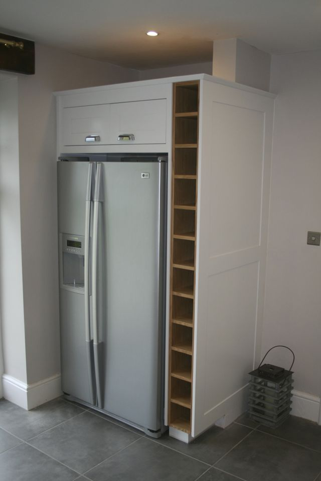 American fridge/freezer with purpose made wine rack