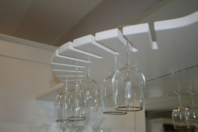 Wine glass display area